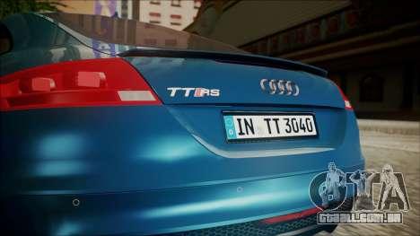 Audi TT RS 2011 v3 para GTA San Andreas vista traseira