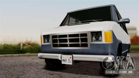 El Passa Van para GTA San Andreas traseira esquerda vista