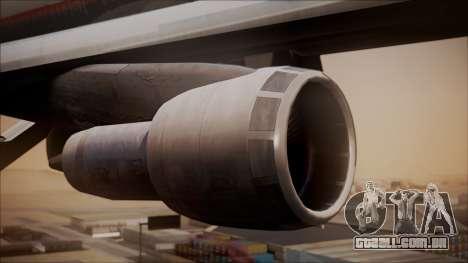 Boeing 747-200 Malaysia Airlines para GTA San Andreas vista direita