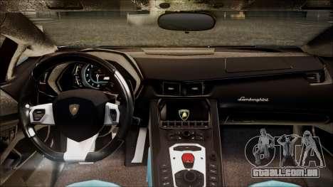 Lamborghini Veneno LP700-4 AVSM para GTA San Andreas vista traseira
