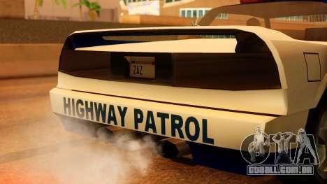Police Infernus para GTA San Andreas vista traseira