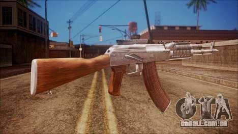 AK-47 v4 from Battlefield Hardline para GTA San Andreas segunda tela