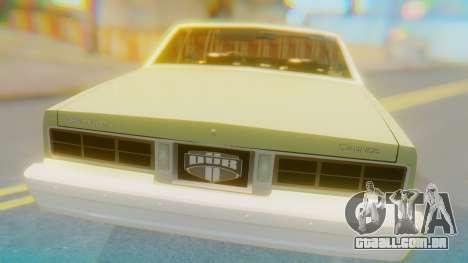 Chevrolet Caprice para GTA San Andreas vista traseira