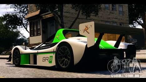 Radical SR8 RX para GTA 4 traseira esquerda vista