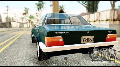 Ford Taunus 2.3 para GTA San Andreas esquerda vista