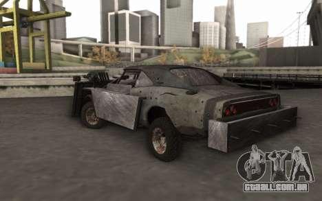 Dodge Charger Infernal Bulldozer para GTA San Andreas esquerda vista