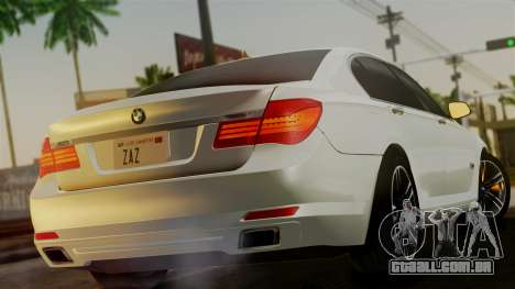 BMW 7 Series F02 2013 para GTA San Andreas esquerda vista