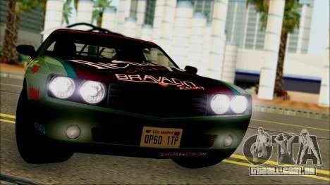 GTA 5 Bravado Gauntlet Redwood HQLM para GTA San Andreas traseira esquerda vista