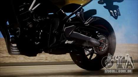 Honda CB650F Amarela para GTA San Andreas vista traseira