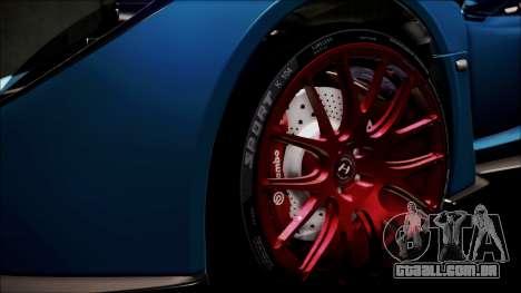 Hennessey Venom GT 2012 U.S.A American para GTA San Andreas vista inferior