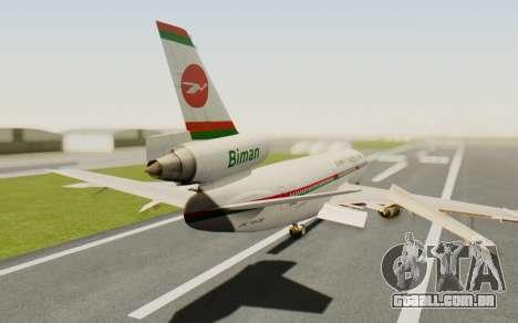 DC-10-30 Biman Bangladesh Airlines para GTA San Andreas esquerda vista