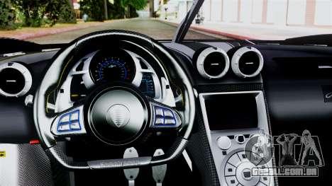 NFS Rivals Koenigsegg Agera R v2.0 para GTA San Andreas vista direita