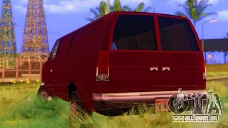 Ambush Van para GTA San Andreas traseira esquerda vista