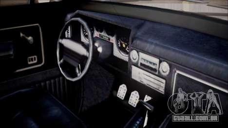 GTA 5 Vapid Slamvan Pickup para GTA San Andreas vista direita