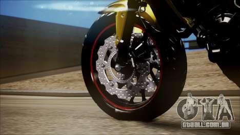 Honda CB650F Amarela para GTA San Andreas vista direita