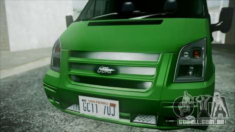 Ford Transit SSV 2011 para GTA San Andreas vista traseira