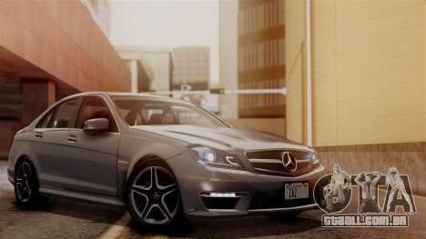 Mercedes-Benz C63 AMG 2015 Edition One para GTA San Andreas vista inferior