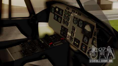 Bell UH-1 Paraguay para GTA San Andreas vista traseira