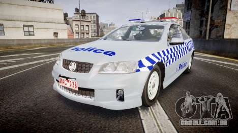 Holden Commodore Omega Victoria Police [ELS] para GTA 4