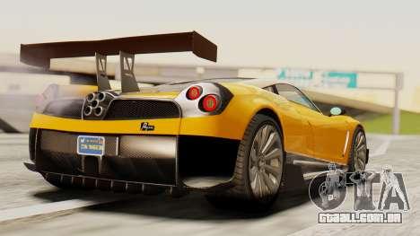 Pegassi Osyra Full Extras para GTA San Andreas esquerda vista