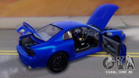 Ford Mustang 1999 Clean para o motor de GTA San Andreas