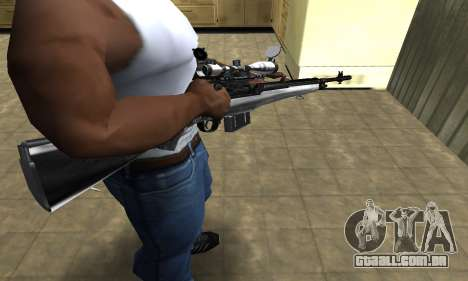 Silver Sniper Rifle para GTA San Andreas