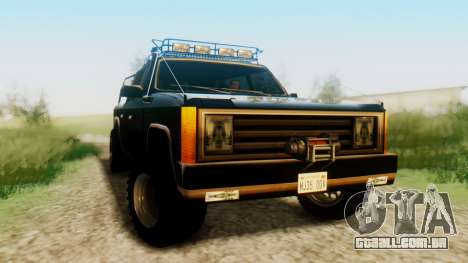 FBI Rancher Offroad para GTA San Andreas vista direita