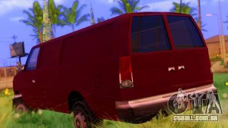 Ambush Van para GTA San Andreas esquerda vista