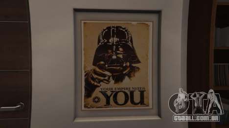 GTA 5 Star Wars Posters for Franklins House 0.5 segundo screenshot