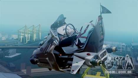 NRG Moto Jet Buzz Clean Model para GTA San Andreas esquerda vista
