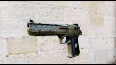 Golden Engraved Desert Eagle para GTA San Andreas