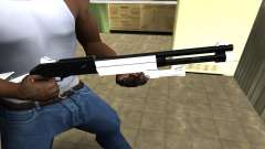 White with Black Shotgun