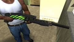 SPAS-12 Green Lines para GTA San Andreas