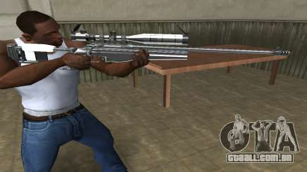 Full Silver Sniper Rifle para GTA San Andreas