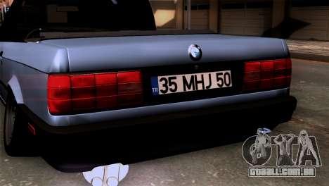 BMW M3 E30 Cabrio para GTA San Andreas vista traseira