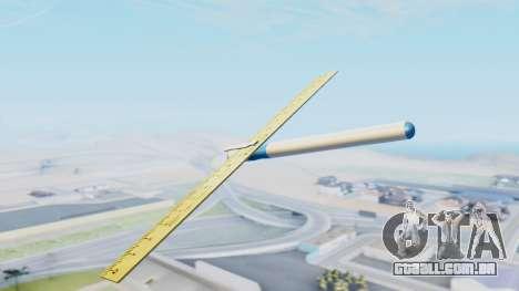 Fantástico avião para GTA San Andreas esquerda vista