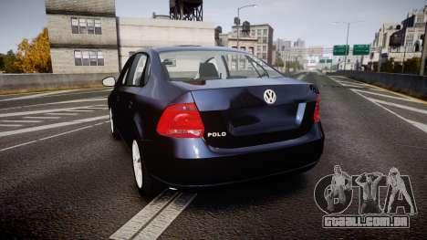 Volkswagen Polo para GTA 4 traseira esquerda vista