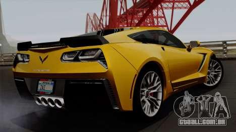 Chevrolet Corvette Z06 1.0.1 para GTA San Andreas esquerda vista