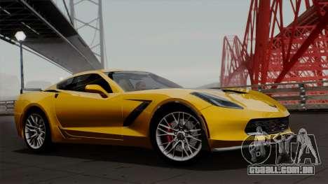 Chevrolet Corvette Z06 1.0.1 para GTA San Andreas traseira esquerda vista