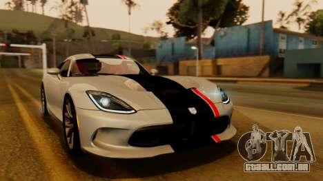 Dodge Viper SRT GTS 2013 IVF (HQ PJ) LQ Dirt para GTA San Andreas vista superior