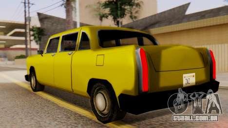 Cabbie New Edition para GTA San Andreas esquerda vista