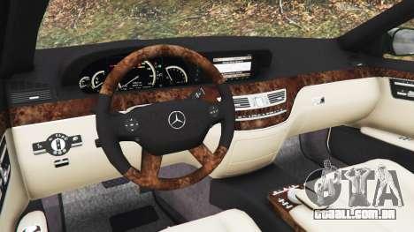 GTA 5 Mercedes-Benz S500 W221 v0.3.1 [Alpha] traseira direita vista lateral