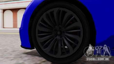 GTA 5 Truffade Adder Convertible para GTA San Andreas traseira esquerda vista