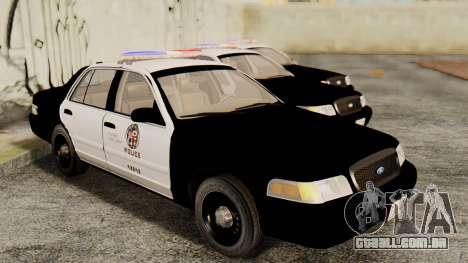 Ford Crown Victoria 2009 LAPD para GTA San Andreas vista direita