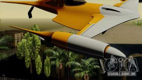 Star Wars N-1 Naboo Starfighter para GTA San Andreas traseira esquerda vista