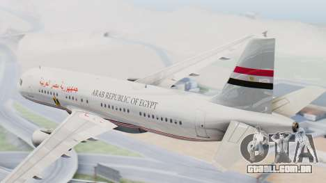 Airbus A320-200 Egyptian Air Force One para GTA San Andreas esquerda vista