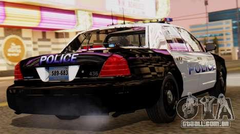Police LS 2013 para GTA San Andreas esquerda vista