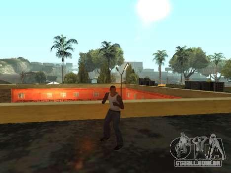 Animação do GTA Vice City para GTA San Andreas por diante tela