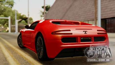 GTA 5 Adder Secondary Color Tire Dirt para GTA San Andreas esquerda vista