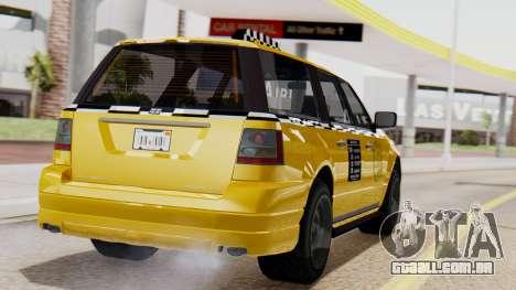 Landstalker Taxi SR 4 Style Flatshadow para GTA San Andreas esquerda vista
